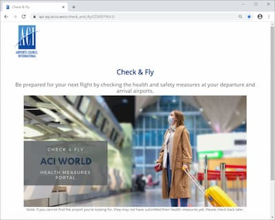 aci check and fly website
